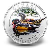 THE WOOD DUCK $10 SILVER COIN DUCKS OF CANADA SERIES #2