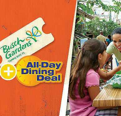 Busch Gardens Tampa Tickets Savings + All Day Dining A Promo Discount Tool