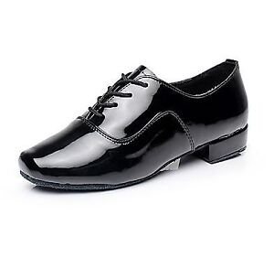 Men's Dancing Shoes - Patent Leather - Size 41 - NEW