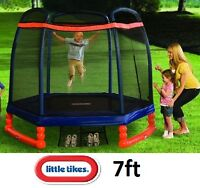 brand NEW LITTLE TIKES 7FT TRAMPOLINE WITH SAFETY ENCLOSURE