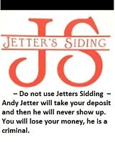 Jetter's Siding - Rips you off
