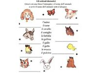 Italian 1:1 or 2:1 lesson for children 3-9 year old