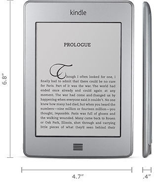 NevSkins skin kit to fit the 'Kindle Touch' fits this model