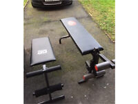 Fitness exercise weight benches