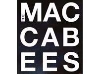 4x Maccabees tickets Saturday 1st