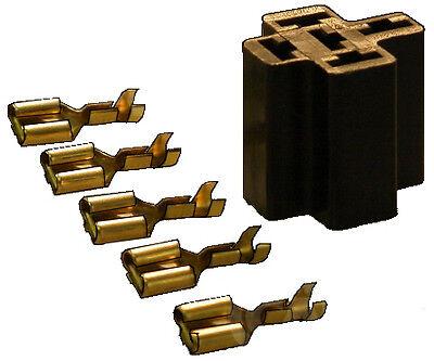 RELAY FLASHER  MULTI PLUG HOLDER SOCKET BASE KIT 1 2 3 4 5 pin CARGO 192159