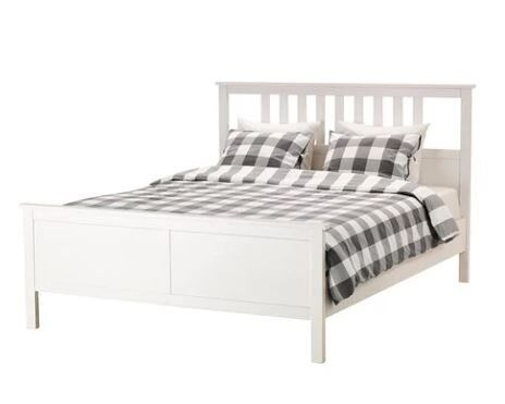 White IKEA HEMNES Double Bed frame and base as New in Queen\'s Park ...
