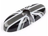 UK Flag Checkered Rear View Mirror Cover For MINI Cooper R55 R56 R57 BNIB
