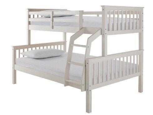 Novara Detachable Trio Bunk Bed Bed Frame Only H 150 4 W 203 2 D