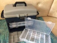 Large Fishing tackle box with multiple drawers