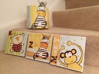 Next nursery unisex pictures and matching lampshade