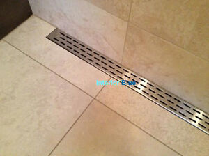 """24"""", 30"""", 36"""", 43"""", 47"""" Stainless Steel LINEAR drains- HOT DEAL!"""