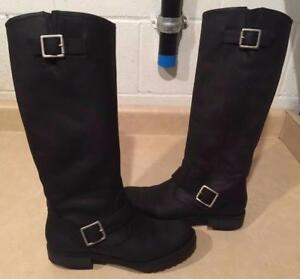c0f91c220ffc Womens Size 7.5 Xhilaration Black Leather Boots