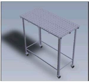 HEAVY DUTY WELDING TABLE 2x4 3/16 OR 1/4 with casters. Laser cut