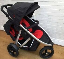 Phil and Ted Vibe double buggy with footmuff and a lot more accessories