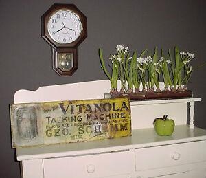 Antique 1910 era Victrola Record Player tin sign London Ontario image 1