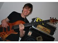 Bass Guitar Lessons Cardiff (first lesson free)