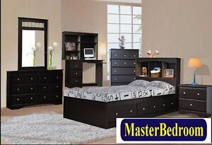 Single 3 Drawer mates bed with Bookcase Headboard