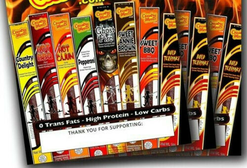 10 for $15 ~ Only $1.50 each ~ COUNTRY MEAT STICKS ~ Scout Fundraiser ~FREE SHIP