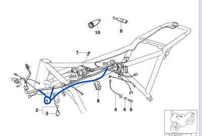 NEW CHASSIS (MAIN) WIRING LOOM BMW K75RT NON-ABS MODELS UP TO 07/93