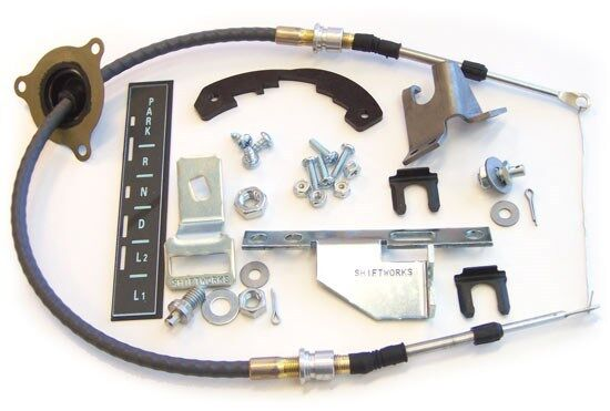 1966 1967 Chevelle TH350 TH400 Powerglide Shifter Conversion Kit &Cable SC2032-C