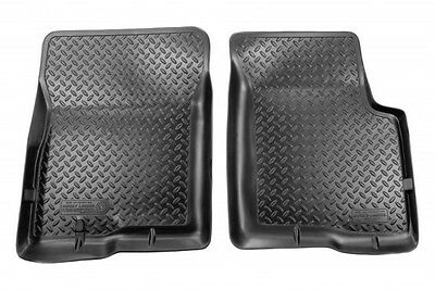 1980-1997 Ford F-350 Husky Black Classic Style Front Floor Liners Free Shipping