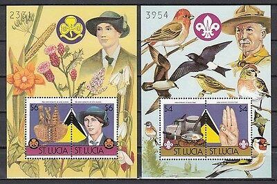 823-824 B. Scout Jahrestag Vögel & Blumen,Nummerierte S / (St Lucia Tag)