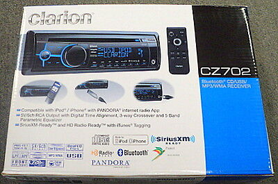 Buy Clarion Car Audio - Clarion Cz702 In-dash Cd/mp3/wma Car Stereo Receiver W/ Built-in Bluetooth