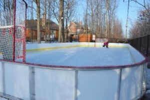 Backyard Ice Rinks & Hockey Rink Boards - Commercial rinks too!