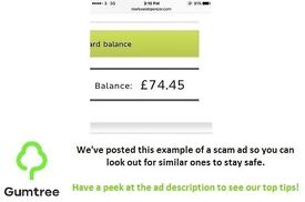 £74.45 M&S Gift Card for £50! - Read the description before responding to the ad!