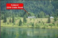 4 acres waterfront in Glade BC