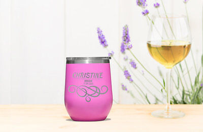 Bride Wine Tumbler, Stainless Cup,Gift for her,customize tumble,personalize,cute - Cute Tumbler Cups