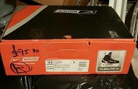 Nike Bauer Size 10 Ice Skates with Blade Guards