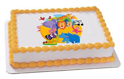 Noah's Ark Baby Shower Edible Cake OR Cupcake Toppers Decoration by - Noah's Ark Baby Shower Decorations