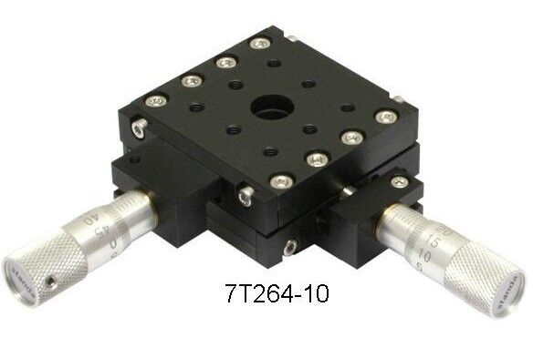 Standa 7T264-10 Ultra Low Profile Two Axis Linear Translation Stage 10mm Travel
