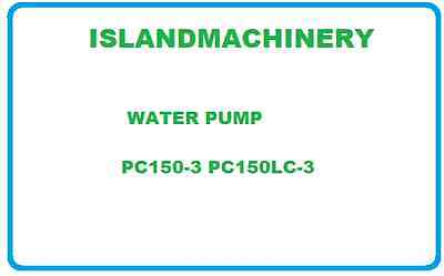 Komatsu Excavator Water Pump Pc150-3 Pc150lc-3