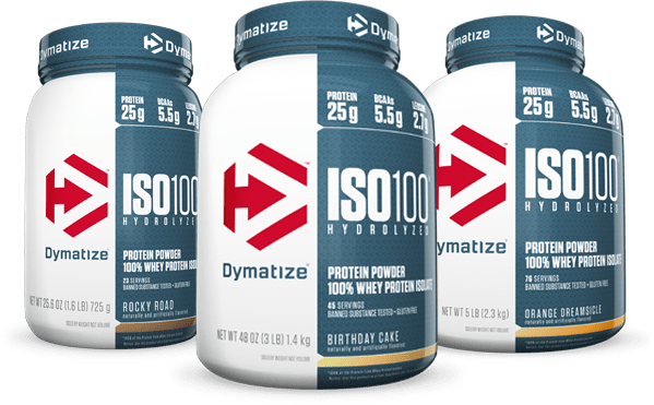 Dymatize ISO100 ast-absorbing whey protein isolate 1.6 Lbs