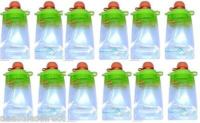 12-Pack Refillable Baby Food Pouch great for snacks & Drinks USA B2G