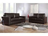 SOFA 3+2 Italian leather sofa brand new black or brown SOFA SET 31543