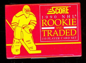 1990-91 SCORE ....ROOKIE & TRADED .... 110 card factory set