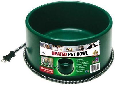 NEW FARM INNOVATORS P-60 ROUND HEATED DOG PET FEEDING BOWL THERMSTAT 5508825