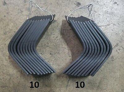 10 Each LH & RH Tiller Tines for Land Pride RTA10 Series  820-055C 820-056C