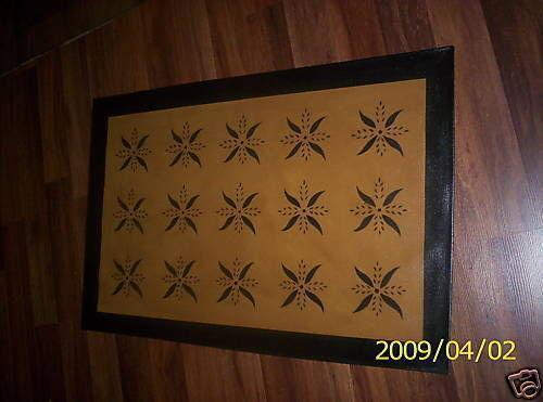 Primitive Floor Cloth Ebay