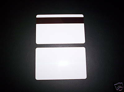 50 Plastic Id Cards 30mil Hico Magnetic Mag Stripe New