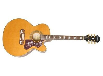 Epiphone EJ-200SCE Acoustic-Electric Guitar (Vintage Natural)