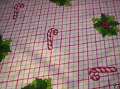 Vintage Christmas Tablecloth Candy Canes