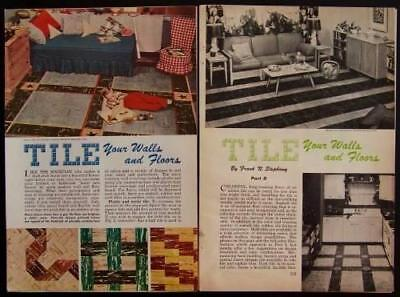 How-To Install Tile Floor Wall 1951 Vintage Tiling INFO