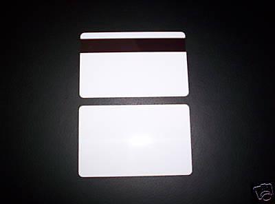 100 Plastic Cards 30mil Hico Magnetic Mag Stripepvc New