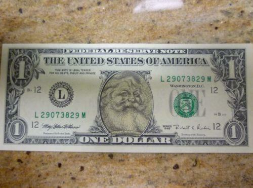 Santa Dollar Paper Money Us Ebay