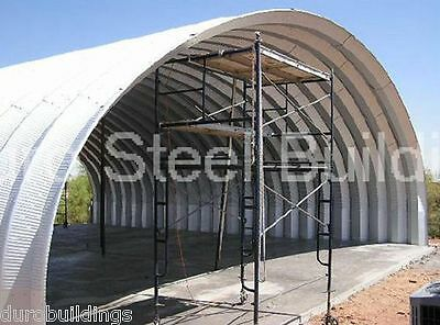 Durospan Steel 40x60x14 Metal Quonset Shop Ag Building Open Ends Factory Direct